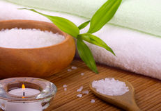 Sea salt bath Stock Images