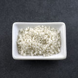 Sea salt in bowl on the table Royalty Free Stock Photography