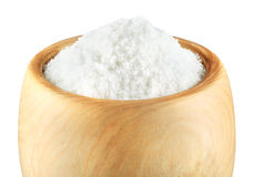 Sea Salt in a bowl on white Stock Image