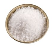 Sea salt in a ceramic bowl Stock Photo