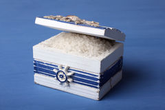 Sea salt in chest Royalty Free Stock Photography