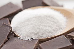 Sea Salt and Chocolate Royalty Free Stock Photo