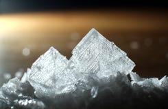 Sea salt. Close up of sea salt crystals, sodium chloride royalty free stock image