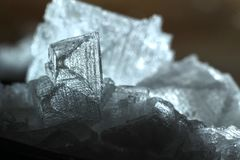 Sea salt. Close up of sea salt crystals, sodium chloride stock photo