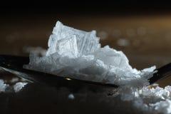 Sea salt. Close up of sea salt crystals, sodium chloride stock photography