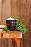 Sea salt with coniferous aroma Royalty Free Stock Image