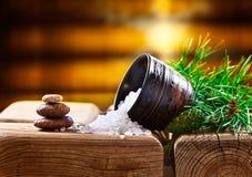 Sea salt with coniferous aroma Stock Photography