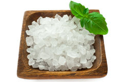 Sea salt crystals Royalty Free Stock Photo