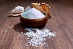 Sea salt crystals Stock Images