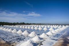 Sea salt field. Sea salt field in Thailand Royalty Free Stock Photos