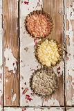 Sea salt flakes - chilli, lemon and rosemary Royalty Free Stock Photography