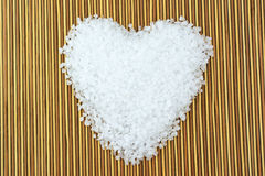 Sea salt heart Royalty Free Stock Photos