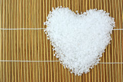 Sea salt heart Stock Image
