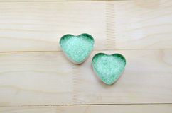Sea salt in a heart shaped box Stock Photography