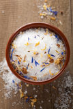 Sea salt with herbs Royalty Free Stock Images