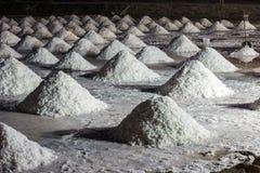 Sea salt hills at salt marsh Royalty Free Stock Image