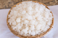 Sea salt in the hod Royalty Free Stock Image