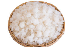 Sea salt in the hod Royalty Free Stock Photography