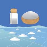 Sea Salt Ingredient and Saline Landscape Stock Photography