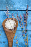 Sea salt with lavender Royalty Free Stock Image