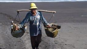 Sea salt maker Royalty Free Stock Photo