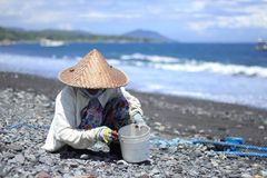 Sea salt making village royalty free stock images