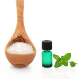 Sea Salt and Peppermint Essence Stock Photo
