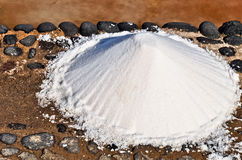 Sea salt pile Stock Photo