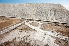 Sea salt in Pomorie. Bulgaria Stock Photography