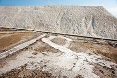 Sea salt in Pomorie. Bulgaria stock photography