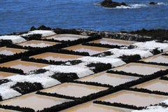 Sea salt production Stock Images
