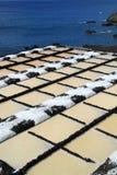 Sea salt production Stock Photo