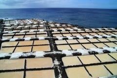 Sea salt production Stock Image