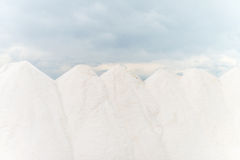 Sea salt production. Royalty Free Stock Image