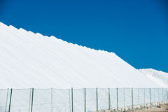 Sea salt production and storage Stock Image