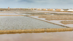 Sea salt and and salt marsh in Nubia Stock Images
