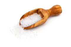 Sea salt in a scoop Stock Photography