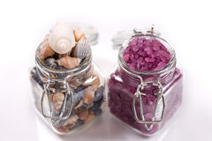 Sea salt and shells Royalty Free Stock Image