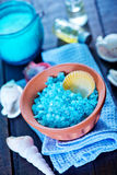 Sea salt and soap Stock Images