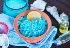 Sea salt and soap Stock Photography