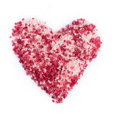 Sea salt for spa in heart shape Stock Image
