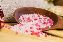 Sea salt for spa Stock Photos