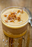 Sea salted caramel chocolate mousse Stock Image