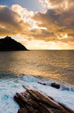 Sea from san sebastian. Also can see Igueldo Royalty Free Stock Images