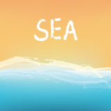 Sea and sand abstract background design Stock Photo