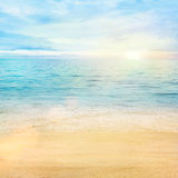 Sea and sand background royalty free stock photos