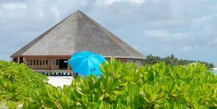 Sea Sand Beach at Meeru Island, Maldives May 2017 Stock Photo