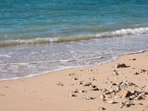 Sea and sand beach Royalty Free Stock Photography