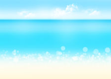 Sea, sand and blue sky nature background Stock Photo