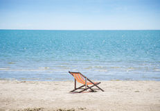 Sea and sand. On daytime Royalty Free Stock Photography